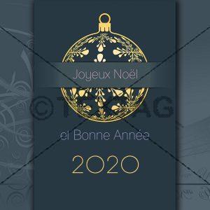 geschäftliche Weihnachts und Neujahrs eCard, französisch NSL-2019-00200