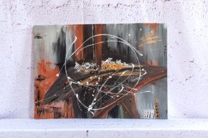 moderne Malerei, Kunstgalerie für abstrakte Gemälde, abstrakte Wandbilder, Abstrakte Bilder auf Leinwand - HandgemaltPO102-Abstract-Acryl-Wandbilder-©TEXTAG-GROUP