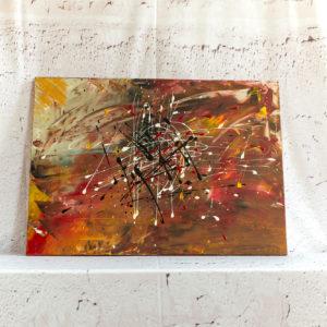 """Abstraktes Wandbild - Acryl Gemälde - """"Herbst Komposition"""" Unikat - 113"""