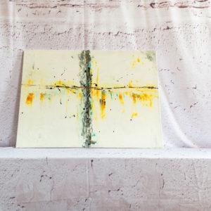 "Wandbilder Abstrakte Bilder auf Leinwand - Handgemalt - Abstraktes Wandbild - Acryl Gemälde - ""EINKLANG"" Unikat (116)"
