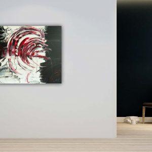 """Gemälde """"RED TORNADO"""" - Unikat (117) Wandbild Abstrakte Bilder auf Leinwand - Handgemalt"""