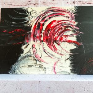 """Gemälde """"RED TORNADO"""" - Unikat (117) Wandbilder Abstrakte Bilder auf Leinwand - Handgemalt"""