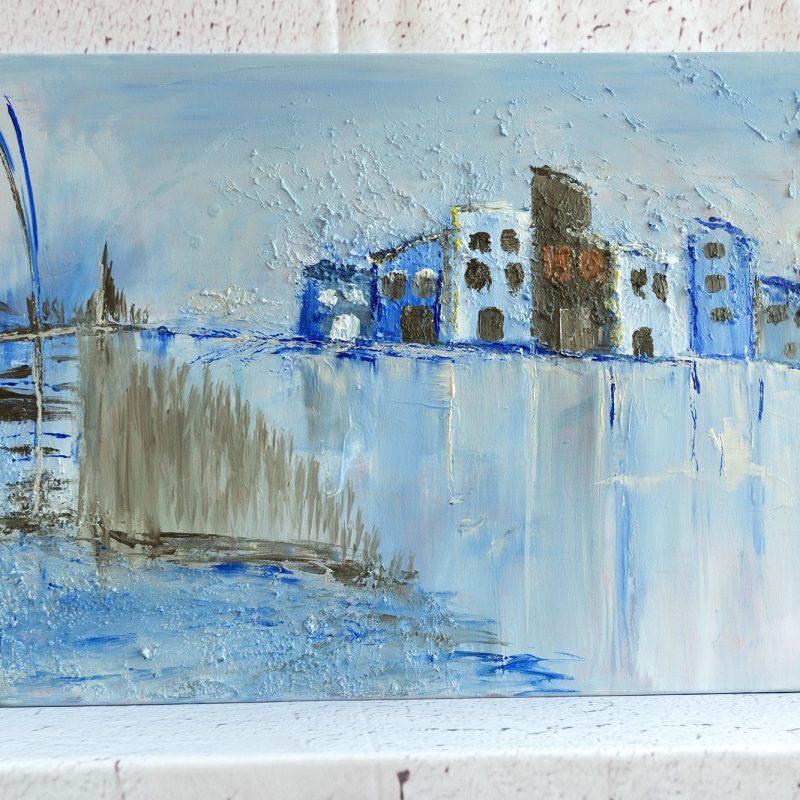 """Abstraktes Wandbild - Acryl Gemälde - """"Eiszeit"""" Unikat - 124"""