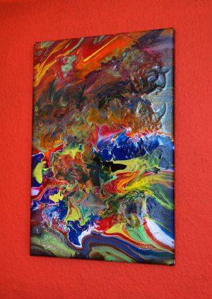 Acrylic Pouring - Acrylic Fluid Painting - der neueste Trend in der Acrylmalerei PO135-Acryl-Pouring-Wandbilder- Künstlerin: Gabriele Hofer