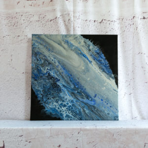 "Acrylic Pouring - Acrylic Fluid Painting ""Blue Water"" Unikat (142)"
