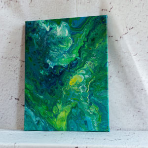 "Acrylic Pouring - Acrylic Fluid Painting ""Blue-Green Water"" Unikat (144)"