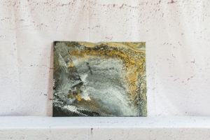 """Acrylic Pouring - Acrylic Fluid Painting """"Silber & Gold"""" Unikat (145)"""
