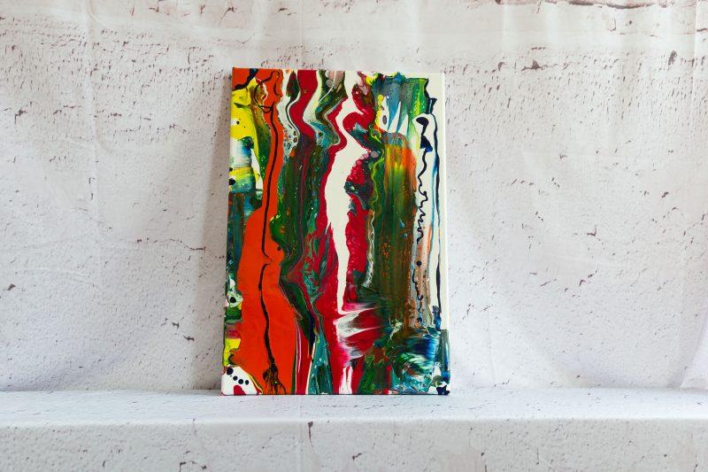 "Wandbild: Acrylic Pouring - Acrylic Fluid Painting """"Color Explosion"""" Unikat (147)"