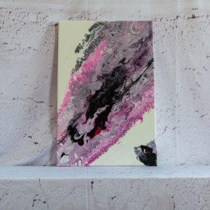 "Wandbild crylic Pouring - Acrylic Fluid Painting ""Rosa & Black""Unikat (151)"
