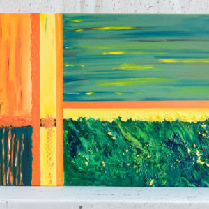 "Abstraktes Wandbild - Acryl Gemälde - ""Green- Yellow - Orange"" Unikat - 153"