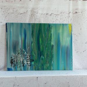 """Abstraktes Wandbild - Acryl Gemälde - """"Farbenspiel"""" Unikat - 155"""