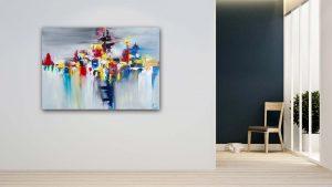 """Abstraktes Gemälde """"COLORS STORM"""" Unikat (160)"""