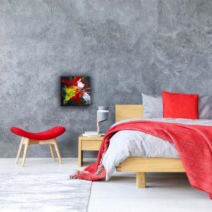 """Abstraktes Wandbild - Acryl Gemälde - """"Orchideen"""" Unikat - 167"""