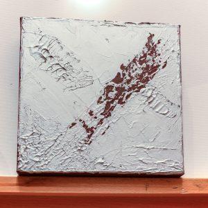 "Abstraktes Wandbild - Acryl Gemälde - ""Silber-Rost"" Unikat - 168"