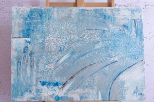 """Abstraktes Gemälde """"Ice Storm"""" Unikat (176), handgemalt"""