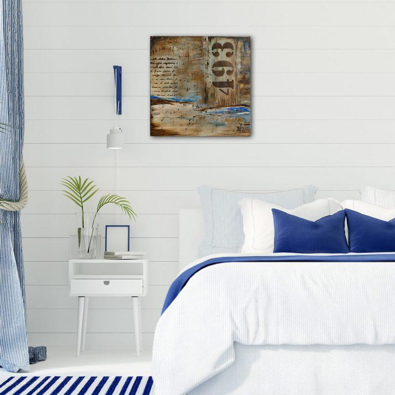 "Abstraktes Wandbild - Acryl Gemälde - ""Rustica 493"" Unikat handgemalt (194) ©G-Hofer_TEXTAG-GROUP"