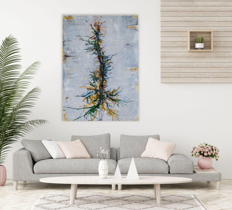 "Abstraktes Gemälde ""Wunderbaum"" Unikat (219), handgemalt"