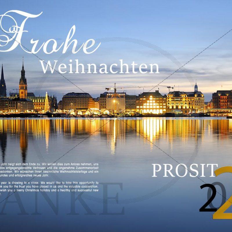 geschäftliche E-Card: Weihnachten in der Hansestadt Hamburg (207)