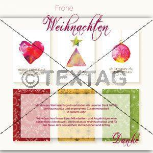 künstlerische, geschäftliche Weihnachts eCard ohne Werbung (379)