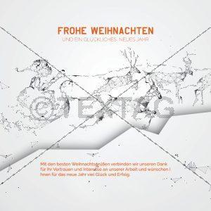 abstrakte, digitale Weihnachtskarte ohne Werbung (382)
