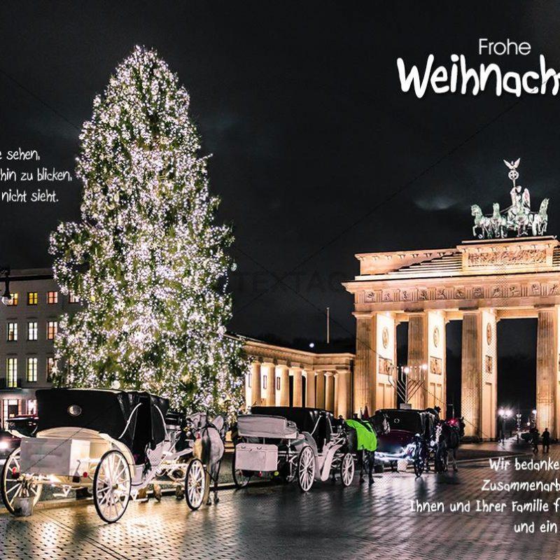 Geschäftliche Weihnachts-E-Cards - Weihnachtsgrüße aus Berlin (0384)