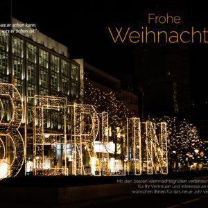 digitale, geschäftliche Weihnachts-E-Cards - Weihnachtsgrüße aus Berlin (0386)