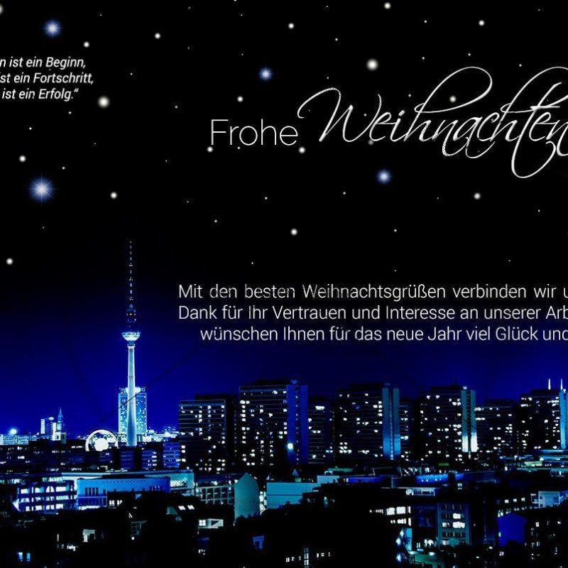 stylische, geschäftliche Weihnachts-E-Cards - Weihnachtsgrüße aus Berlin (0388)
