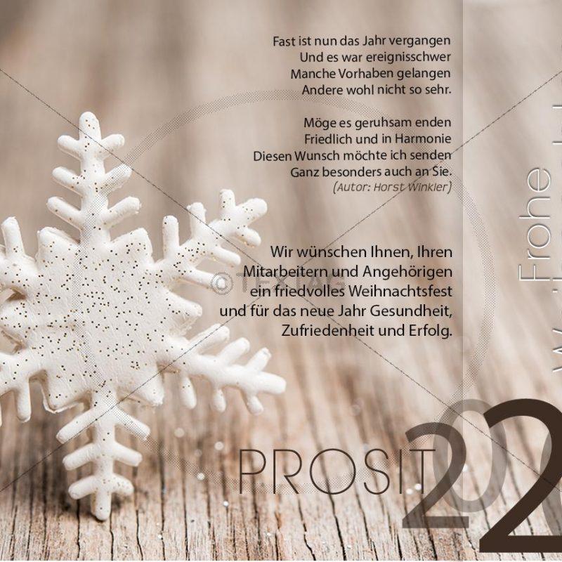 edle Weihnachtskarte - Weihnachts und Silvester e Card für Firmen (0353)