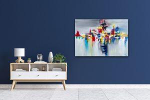 """Abstraktes Gemälde """"COLORS STORM"""" Unikat (160) 1"""
