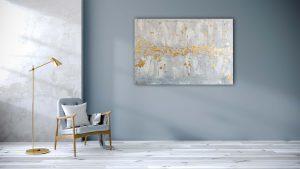 """Abstraktes Gemälde """"Goldregen"""" - Unikat - 183"""