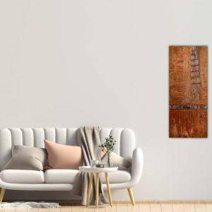 "Abstraktes Gemälde ""Daydream"" Bronze - Unikat - 188"