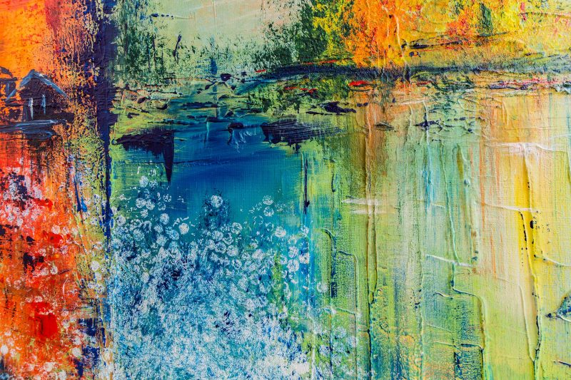 "Abstraktes Gemälde ""Landscape"" mit Struktur - Unikat - 191"