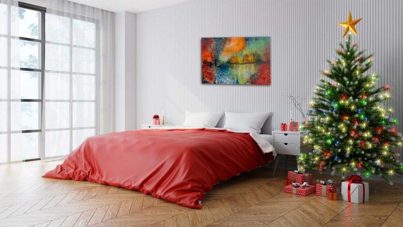 """Abstraktes Gemälde """"Landscape"""" mit Struktur - Unikat - 191 ©G-Hofer_TEXTAG-GROUP"""