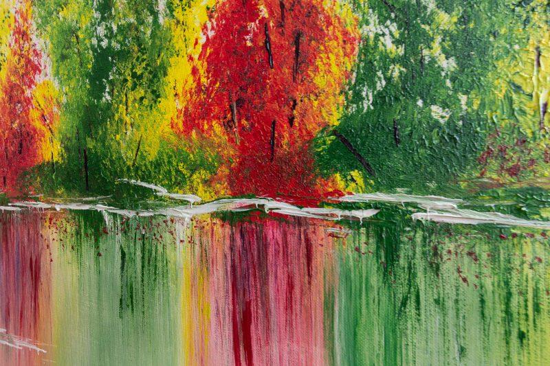 """Abstraktes Gemälde """"Colorful Forest"""" mit Struktur - Unikat - 192, ©G-Hofer_TEXTAG-GROUP"""