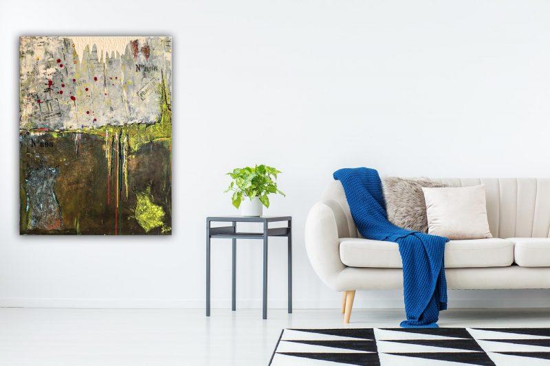 """Extravagantes, abstraktes Wandbild - Acryl Gemälde - """"LOFT"""" Unikat handgemalt (196) ©gH Abstrakt Design"""