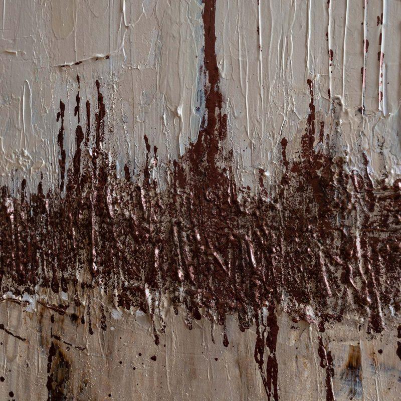 """Abstraktes Wandbild - Acryl Gemälde - """"Bronze"""" Unikat handgemalt (193) ©G. Hofer TEXTAG GROUP"""