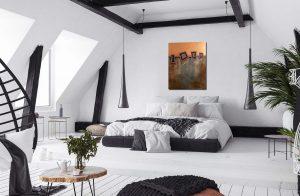 """Extravagantes, abstraktes Wandbild - Acryl Gemälde - """"GEO-Bronze"""" Unikat handgemalt (197)"""