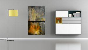 "Extravagantes, abstraktes Wandbild - Acryl Gemälde - ""Gewitter"" Unikat handgemalt (198) ©gH Abstrakt Design"
