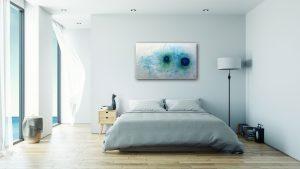 "Abstraktes Wandbild - Acryl Gemälde - ""Blick vom Weltall"" Unikat handgemalt (199) ©G. Hofer TEXTAG GROUP"