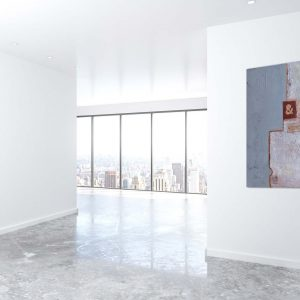 "Abstraktes Acryl Gemälde mit Beton ""Loft & Work"" Unikat (204)"
