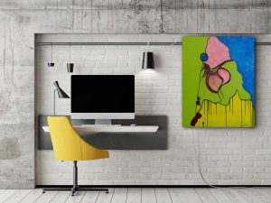 "Abstraktes Acryl Gemälde ""Springtime"" Unikat (205), Originalgemälde, handgemalt. Gabriele Hofer"