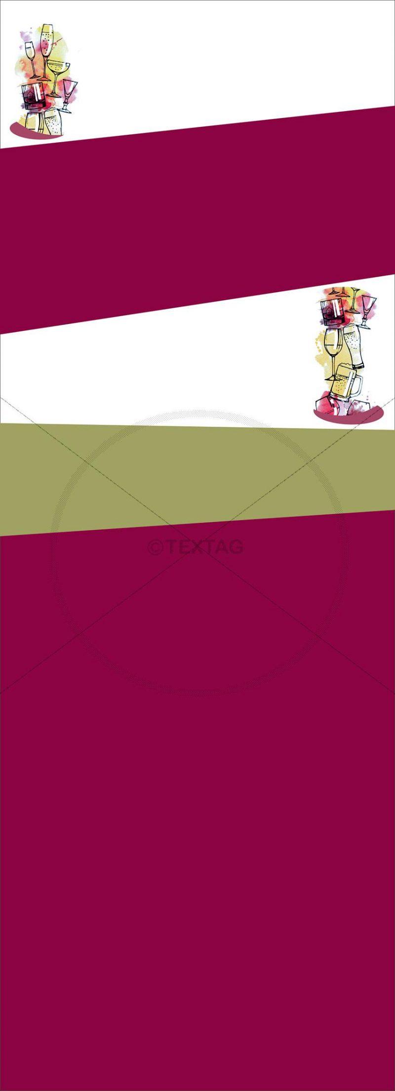 Bar und Getränkekarte Vorlage Format: 105x297mm uum Ausdrucken am PC (00114)