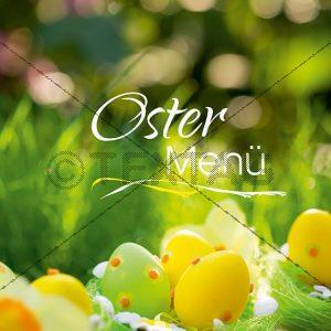 Speisekarten Vorlage für Oster Menü, Deckblatt Word Vorlage zum Ausdrucken (120)