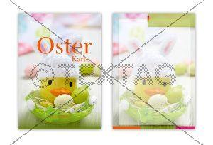 2 Seiten: Deckblatt und Einlegeblatt, Speisekarten Vorlage für Oster Menü, Word Vorlage zum Ausdrucken (123)