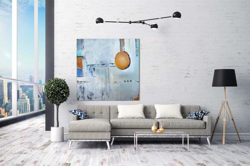 """Loft Phantasie″ Acryl Gemälde Unikat (214) handgemalt,. Gabriele Hofer"