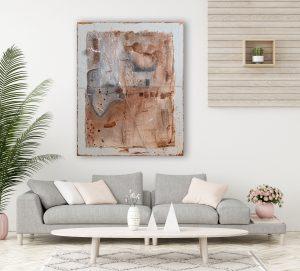 """""""Gefangen - Der Stein des Anstoßes″ Abstraktes Acryl Gemälde, Unikat, handgemalt (223) (c) Gabriele Hofer"""