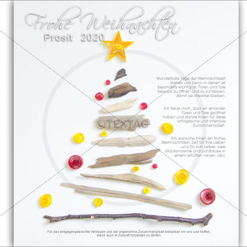 geschäftliche Weihnachts-E-Card mit Spruch ohne Werbung (135)
