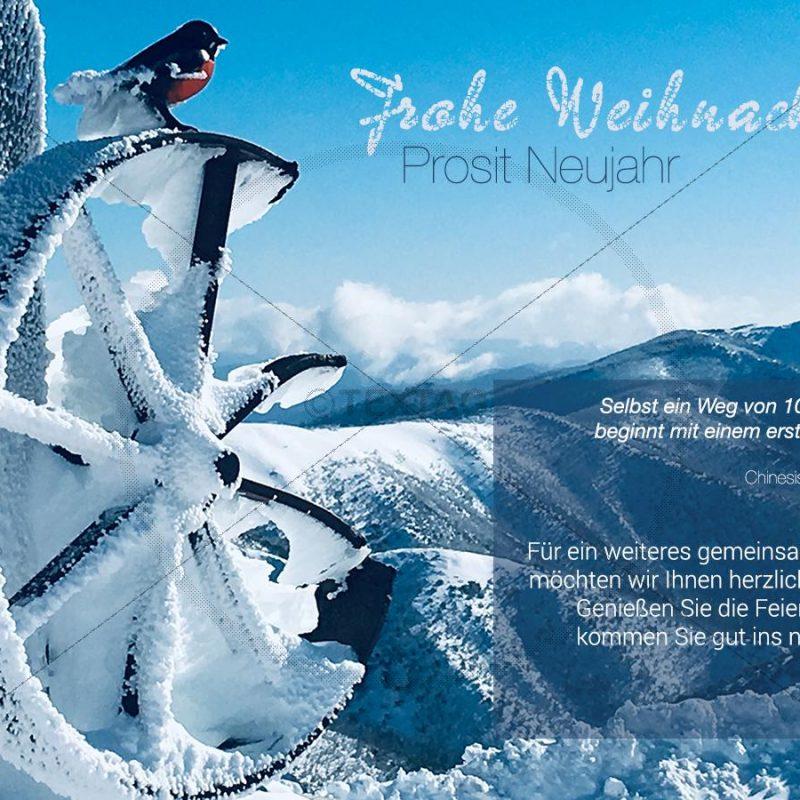 romantische Weihnachts-E-Card mit Spruch, geschäftlich, ohne Werbung (398)