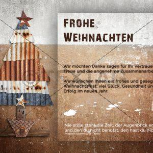 nostalgische Weihnachts E-Card, geschäftlich, ohne Werbung (403)