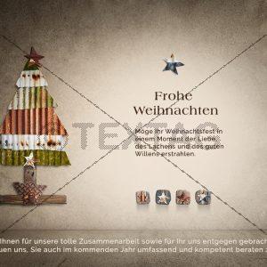 nostalgische Weihnachts E-Card, geschäftlich, ohne Werbung (404)